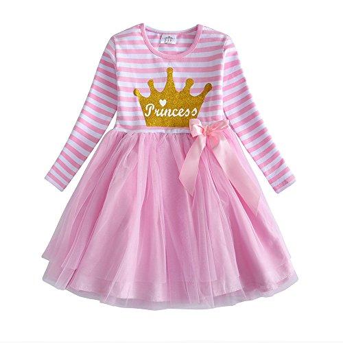 VIKITA Mädchen Kleider Sommerkleid Blume Baumwolle Lässige Kinderkleidung Gr. 92-128 LH4561 5T