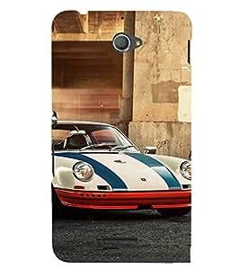 EPICCASE S&J car Mobile Back Case Cover For Sony Xperia E4 (Designer Case)