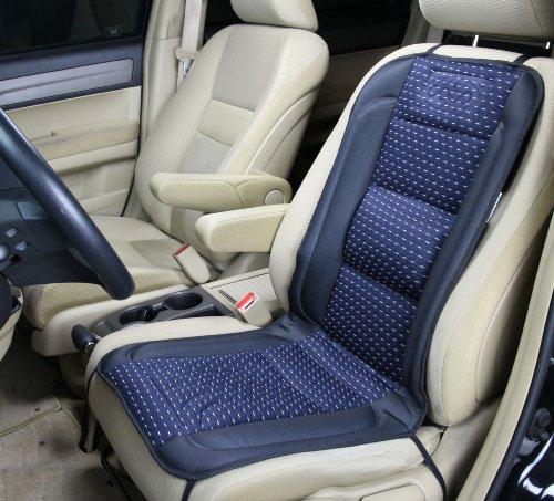 Preisvergleich Produktbild ObboMed SH-4170A 12V 45W beheizbare Sitzkissen mit Lendenstützung,  DELUXE Model (schwarz mit Muster dunkelblau)
