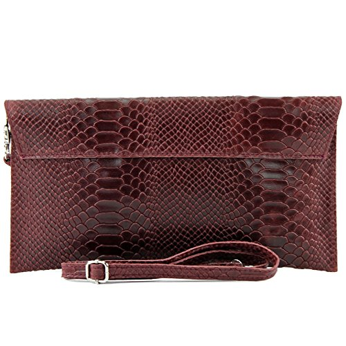 modamoda de - Made in Italy , Pochette pour femme Klein Rouge bordeaux