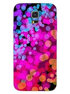 Samsung S5 Mini Cover - Bubble Splash - Colorful -Abstract - Designer Printed Hard Shell Case