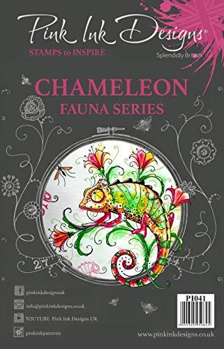 Pink Ink Designs Stempel Chamäleon, A5, transparent