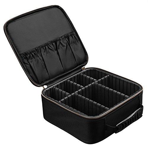 SONGMICS Kosmetik Organizer Make up Tasche Kosmetikkoffer für Koffer mit Griff (M) MUC23BK