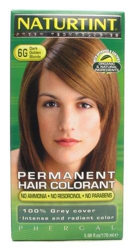 Naturtint Permanent Hair Farbstoff Dark Golden Blonde 6G 135ml (Golden Haar-farbe Dark Blonde)