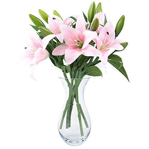 pink lily bush artificial flower nniuk lily real touch perfume lily