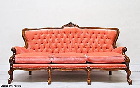 Chesterfield Chippendale Sofa Couch Barock Antik Vintage Sessel