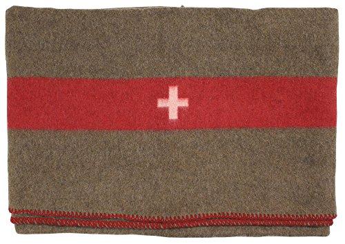 MFH Schweiz. Wolldecke, Braun, 200 x 150 cm