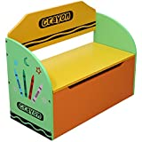 Bebe Style Childrens Wooden Toy Storage Box and Bench (Crayon Themed)