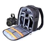 Duragadget - Mochila para cámaras Canon EOS y PowerShot (355 mm), color gris