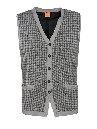BOSS Orange - Manteau sans manche - Cape - Homme Gris