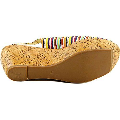 ... Chinese Laundry Vera Cruz Textile Keilabsätze Sandale Yellow Multi ...