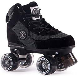BTFL Trends- Rollschuhe Luca, für Damen, Mädchen, Discoroller, Rollerskates, Schwarz, 38