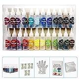 Tie Dye DIY Kit, 24 Kleuren Tie Dye Shirt Stof Dye Met Rubber Banden, Handschoenen En Tafelhoezen Voor Familie Vrienden Groepen Feestartikelen