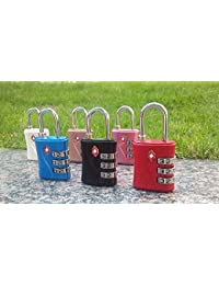 Kretix TSA (554) Approved 3 Digit Luggage Lock Best For International Travelling Assorted Color & Shape