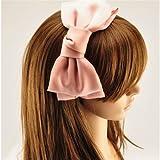 Modisch Süß Koreanisch Stil Große Schleife Stirnband Haarschmuck Pink