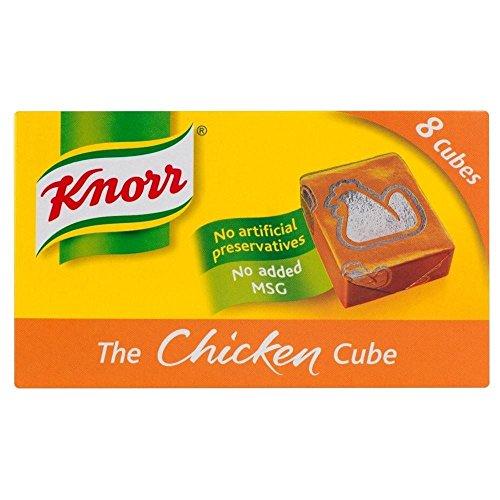 Knorr Stock Cubes de poulet (8x10g) - Paquet de 2