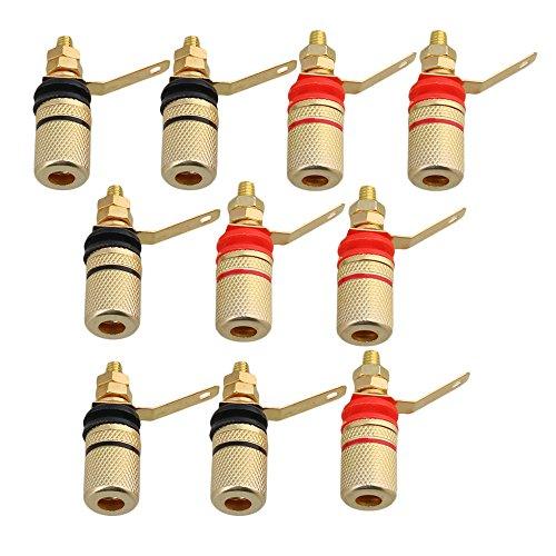 Mxfans 1004mm Binding Post Audio Verstärker Terminal Banana Jack Lautsprecher Eisen Gold Plated Binding Post-terminals