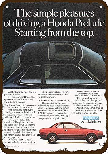 Laptopo 1980 Honda Prelude w/CVCC Engine & MOONROOF Car Vintage Look Replica Metal Sign