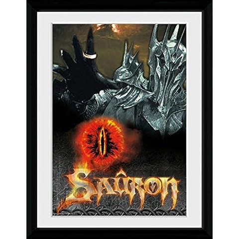GB Eye, Poster incorniciato, 16 x 12 cm, motivo: Il signore degli Anelli, Sauron