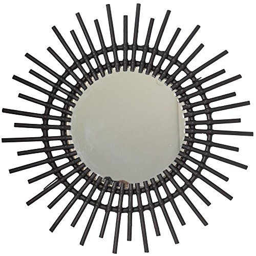 BHP Espejo de Pared Sol Acabado Negro de diámetro 60cms Referencia 234-3038