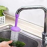 Hunpta Filter Faucet Rotary Tap Water Connector Fan Shower Room Kitchen Purple Screen (purple)