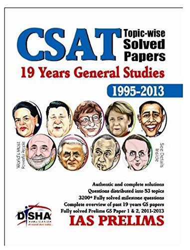 19 Years IAS Prelims  CSAT  General Studies Topic wise Solved Papers  1995   2013  9789382961789 available at Amazon for Rs.90
