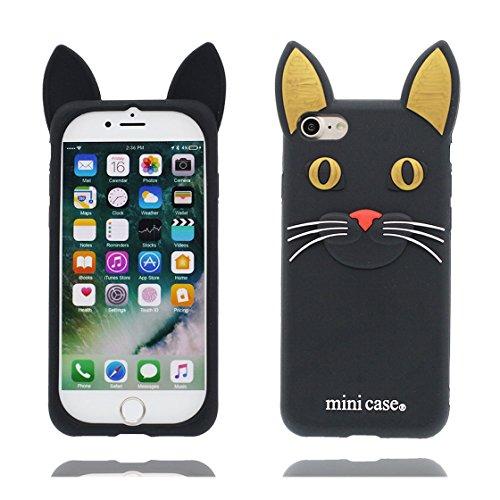 iPhone 7 Custodia, TPU unico progettato morbido Shell Skin iPhone 7 Case, Cartoon Copertura iPhone 7 4.7 ( 3D Labbra rosse Dita ), Durable Case Resistente agli urti di polvere Nero 1