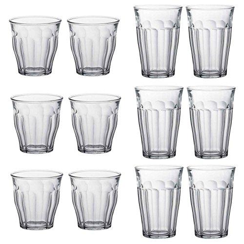 Duralex Picardie Trinkgläser - 220ml Tumblers, 360ml Highballs - Satz von 12 Highball-glas