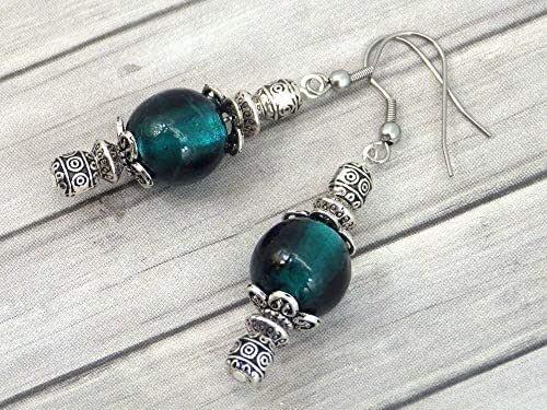 Orecchini Thurcolas dalla gamma Venezia in verde perle di vetro di Murano