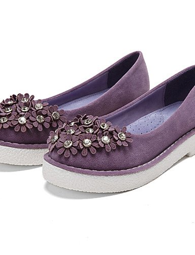 ZQ Scarpe Donna - Mocassini - Formale / Casual - Comoda / Punta arrotondata / Chiusa - Plateau - Scamosciato -Nero / Blu / Giallo / Rosa / , purple-us8.5 / eu39 / uk6.5 / cn40 , purple-us8.5 / eu39 /  black-us8 / eu39 / uk6 / cn39