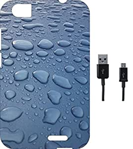 BKDT Marketing Printed Soft Back Cover Combo for Lava Iris X5 With Charging Cable