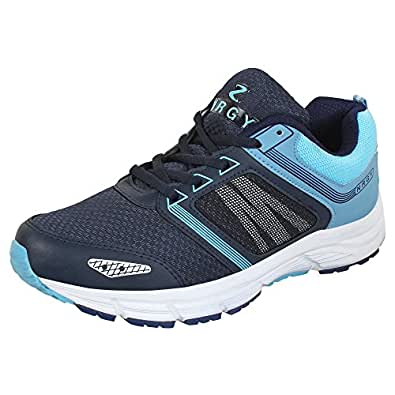 NRGY Pro Performance Running Shoes Sport Shoes for Men (NAVY :: SKYBLUE)