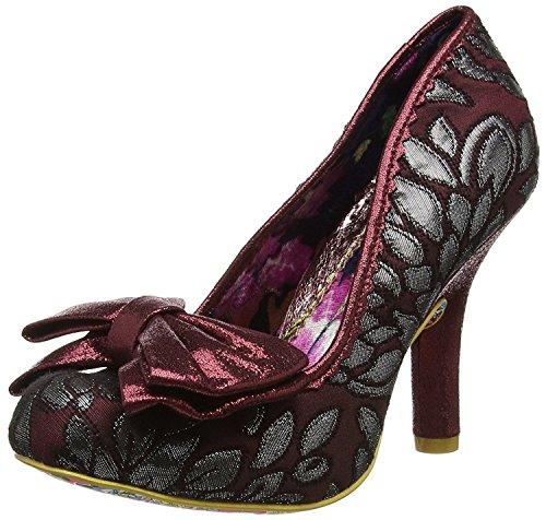 #Irregular Choice Mal E Bow Burgundy Womens Heels Court Shoes-36