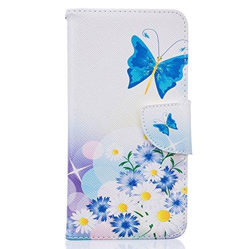 Tosim Huawei GT3 Hülle Leder, Klapphülle mit Kartenfach Brieftasche Lederhülle Stossfest Handy Hülle Klappbar für Huawei GT3 / Honor 5C - TOBFE52615#3