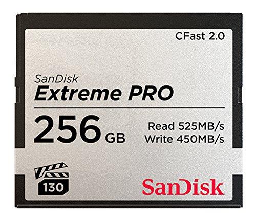 SanDisk Extreme PRO 256GB CFast 2.0 Speicherkarte mit bis zu 525 MB/Sek.