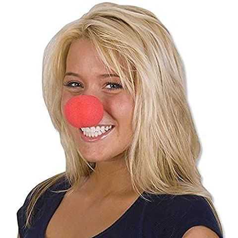 MEGA VALUE MULTIPACK 6 x Red Nose Day Soft Sponge Clown Noses Fancy Dress Comic Relief Circus Clown Party