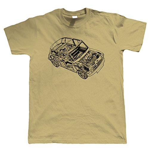 Classic Mini Cooper Diagram Mens T shirt, 4 colours