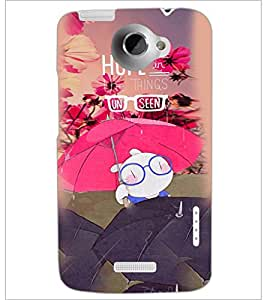 PrintDhaba Quote D-3887 Back Case Cover for HTC ONE X (Multi-Coloured)