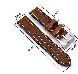 Correa Reloj Cuero Correa de Recambio Correa de Repuesto Reloj Cinturón Adecuado Para Reloj Tradicional Reloj Deportivo Reloj por meridy