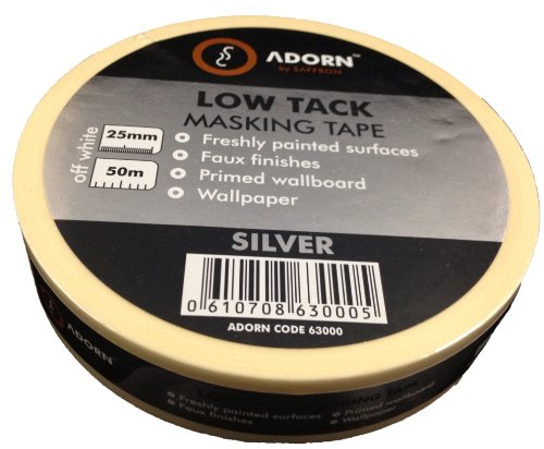 adorn-63000-silver-nastro-adesivo-di-carta-a-bassa-aderenza-per-superfici-delicate-25-mm-x-50-m-rimo
