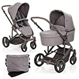 ABC Design Kombi Kinderwagen 2in1 Set Catania 4 - Babywanne und Sportwagen inkl. XXL Zubehör Set (Wickeltasche, Regenschutz, Insektennetz, Handyhalter etc.)