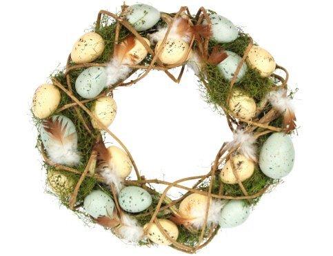 Gisela graham @ easter direct - ghirlanda pasquale a forma di nido con uova, perfetta come decorazione per centrotavola