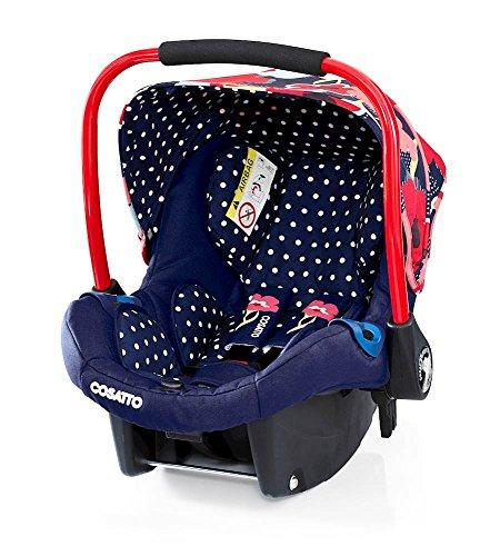 Preisvergleich Produktbild Cosatto Port - Baby Autositz 0-13 kg - Sicherheit + Schutz Für Die Kleinsten - Babyschale / Kindersitz Gruppe 0 - Erstausstattung Für Isofix + 3 Punkt Gurt, Proper Poppy