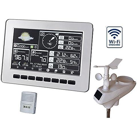 Foggit HP1000 Estación meteorológica inalámbrica - Wifi pantalla a color profesional y análisis directo Tiempo
