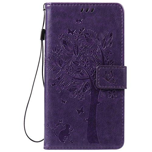 Leder 3 Tasche (Nancen Tasche Hülle für Samsung Galaxy Note 3 /SM-N9000 (5,7 Zoll) Flip Schutzhülle Zubehör Lederhülle mit Silikon Back Cover PU Leder Handytasche im Bookstyle Stand Funktion Kartenfächer Magnet Etui Schale)