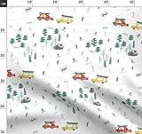 Ski, Retro, Mitte Des Jahrhunderts, Autos, Schnee,