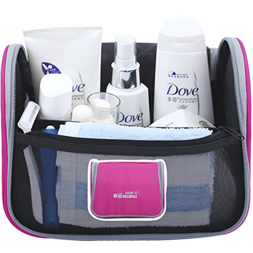 NiSeng Salle de bains rangement à Suspendre Trousse de maquillage Trousse de Voyage OrganisateurRose