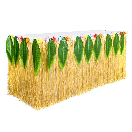 BESTOYARD Haupttabelle-Tanz-Tabellen-Picknick-Tabellen-Gras-Rock Frische Kreative PP. Kunst-Stroh-Gras-Rock-Hawaiische Tabellen-Dekorationen