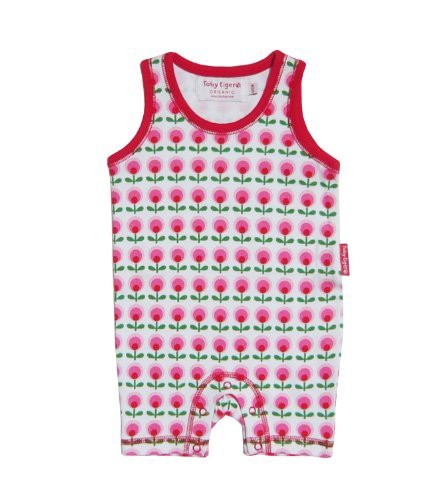 Toby Tiger - ROOWHDOFL1 - Combinaison Fille Rose bonbon (Pink/White/Red)