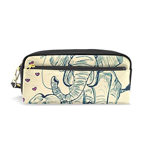 coosun pintura elefantes estuche de piel sintética portátil Escuela Pen Bolsas bolsa...